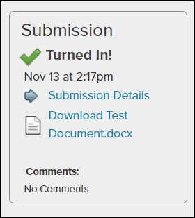 submission confirmation